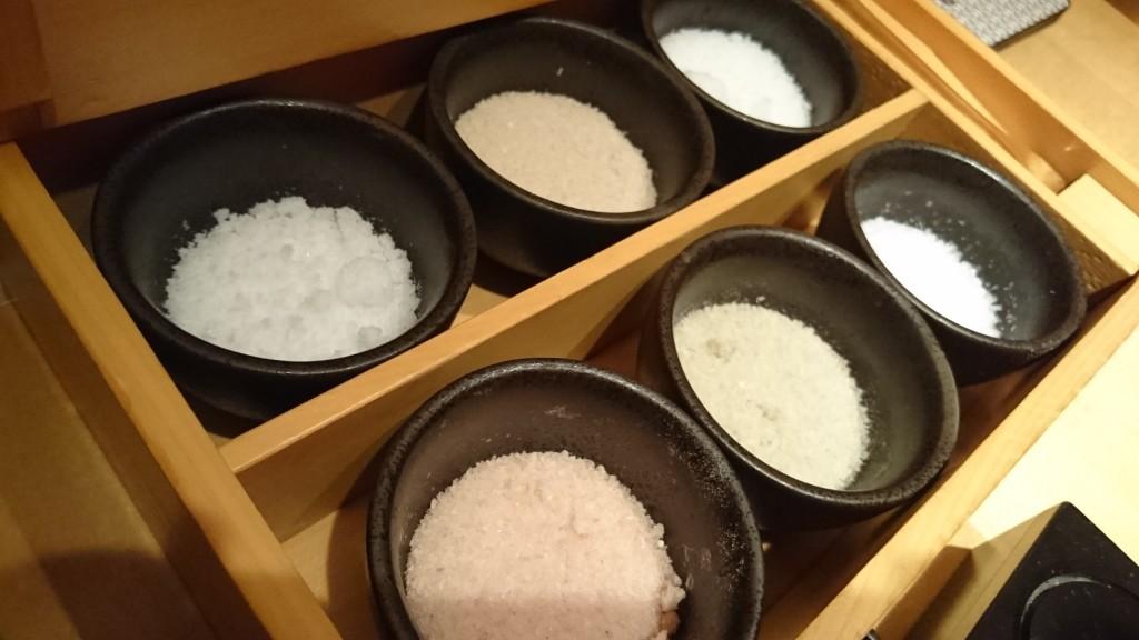 6種類の塩